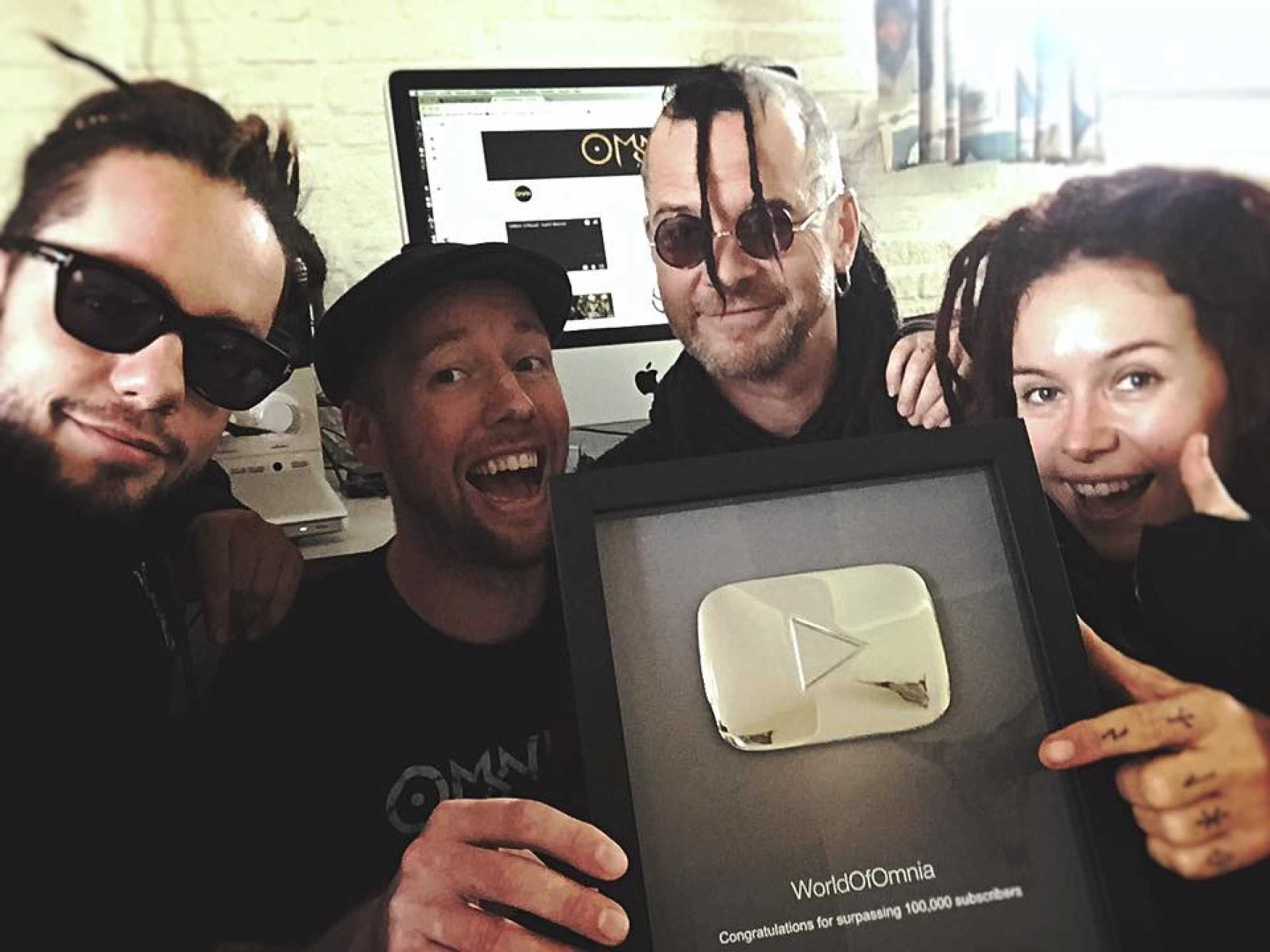 hey we just received a silver creator award for 100 000
