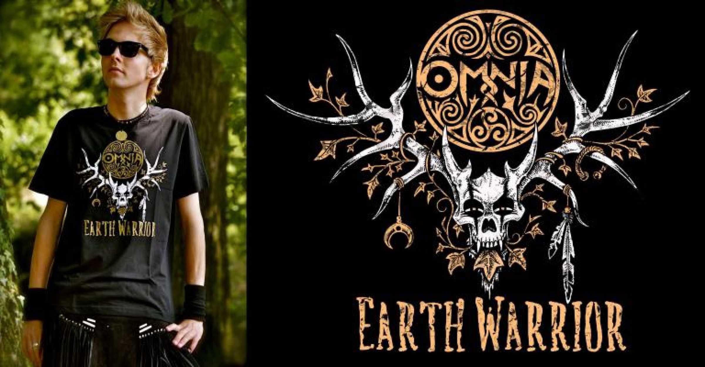 Earth Warrior T Shirt  Organic
