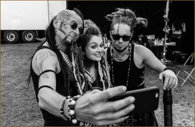 Blog time in the backstage